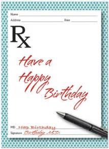 birthday script card medical birthday cards posty cards