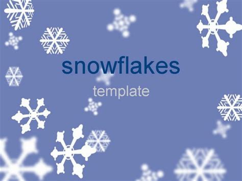 snowflake powerpoint template snowflakes template