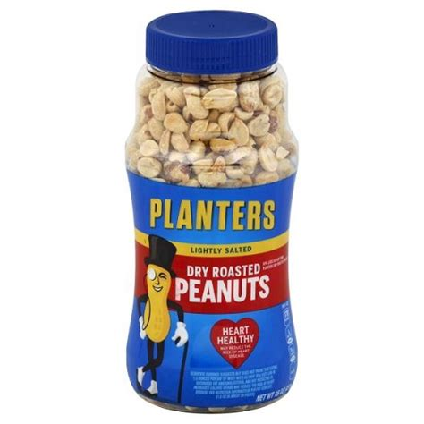 Planters Peanuts 16 Oz by Planters Roasted Peanuts Lightly Salted 16 Oz