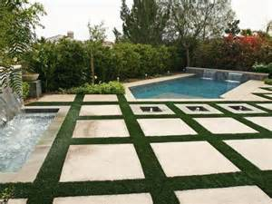 poolside patio with large square pavers hgtv