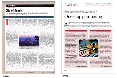 magazine layout anatomy magazine redesign anatomy of a travel page makeover