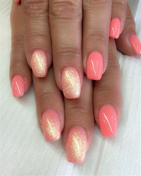 Nägel Lackieren Hacks coral nails http hubz info 58 cute nail art design