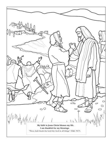 jesus heals blind man coloring page az coloring pages