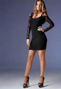 little black dress and platform high heels little black