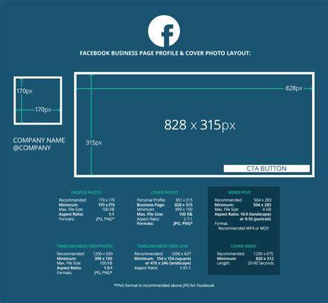 format video fb 2018 social media image dimensions cheat sheet