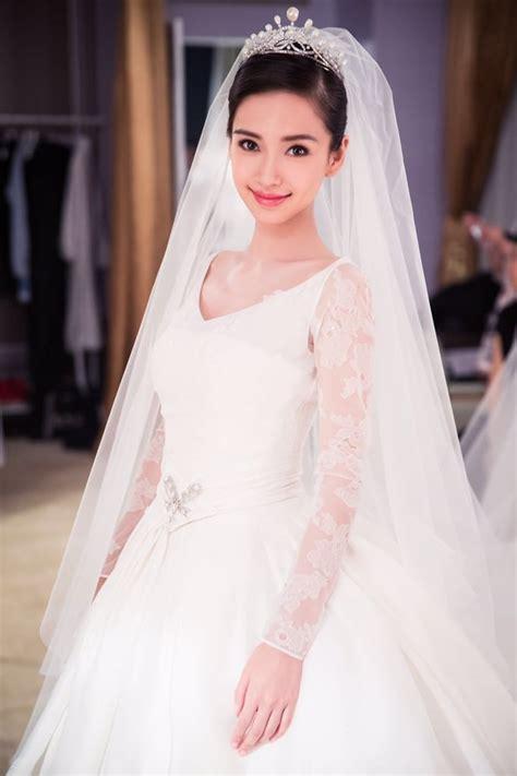 Angela Dres angelababy wedding in china popsugar fashion