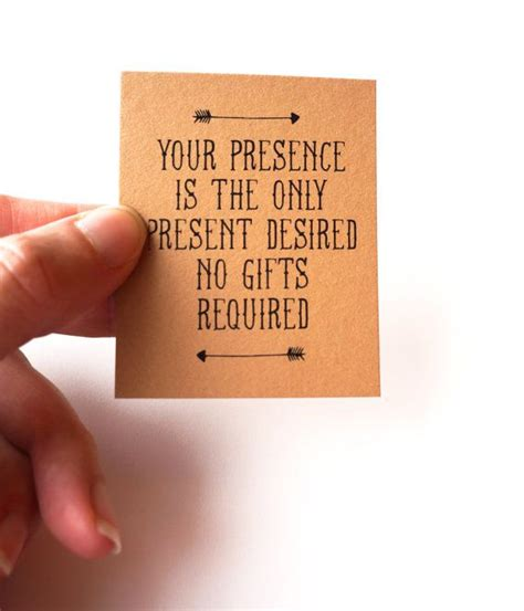 birthday invitation wording no gifts your presence is the only present desired no gifts invitation insert pdf printable gift