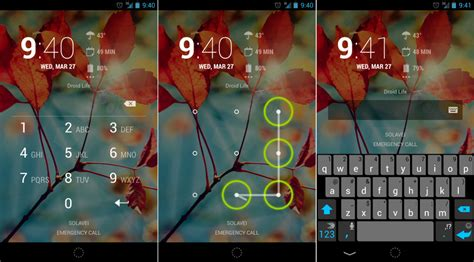 pattern lock hack code an overview of android lock screen security options