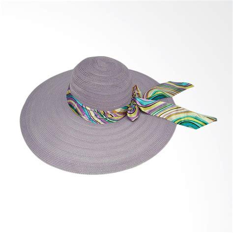Floppy Hat Topi Pantai Lokal jual d d hat collection floppy hat wide ribbon topi pantai ungu harga kualitas