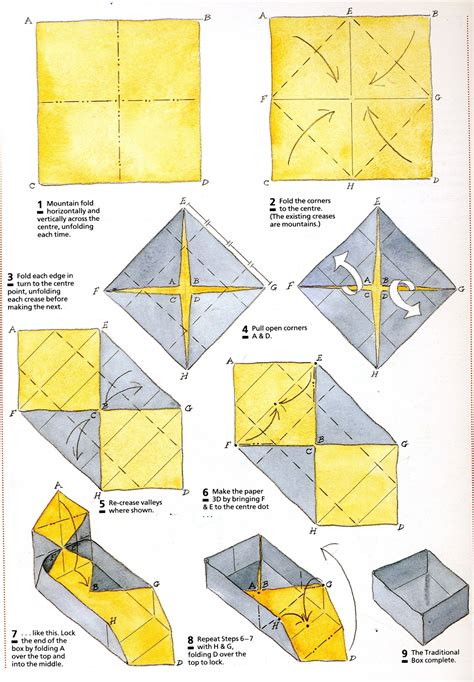 How To Make A Paper Origami Box - image gallery origami box