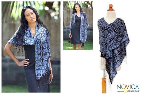 Tunic Parang Classic silk batik shawl java sea the hunger site