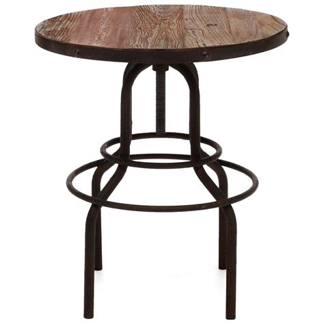 Distressed Bistro Table Peaks Bistro Table Antique Metal Distressed Dcg Stores