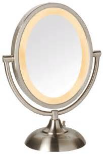 Makeup Mirror With Lights And Magnification Jerdon 5x 1x Magnification Oval Halo Lighted Vanity Makeup