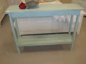 cottage console table shabby chic