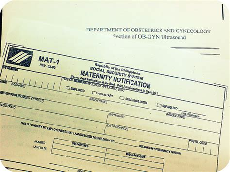Sss Mat 2 Form by Sss Maternity Notification Form Explore Toni S