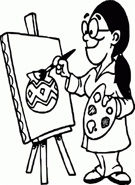 artist coloring page az coloring pages