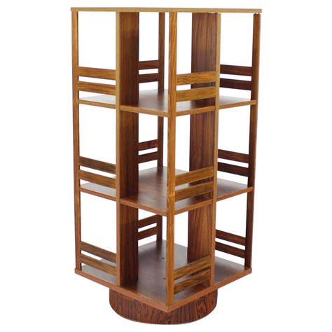 Revolving Bookcase moden rosewood revolving bookcase record cabinet