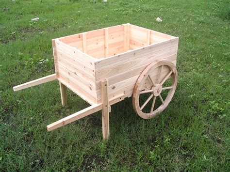 Wooden Cart Planter by Wooden Planter Carts Wheelbarrow Planters Modern