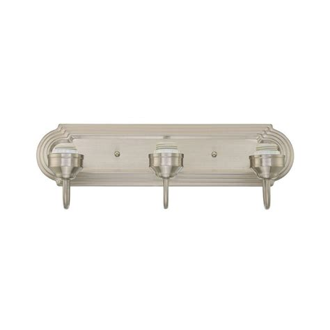 brushed nickel wall light fixtures 3 light brushed nickel wall fixture 6300800 the home depot