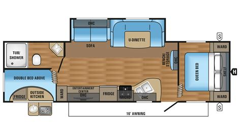 jayco floor plans 2017 jayco jay flight slx 284bhsw travel trailer floor plan