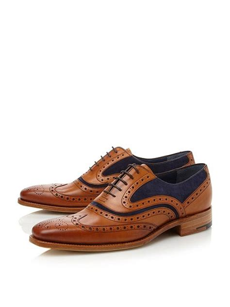 house of frazer mens shoes barker mcclean lace up wingtip brogues tan house of fraser