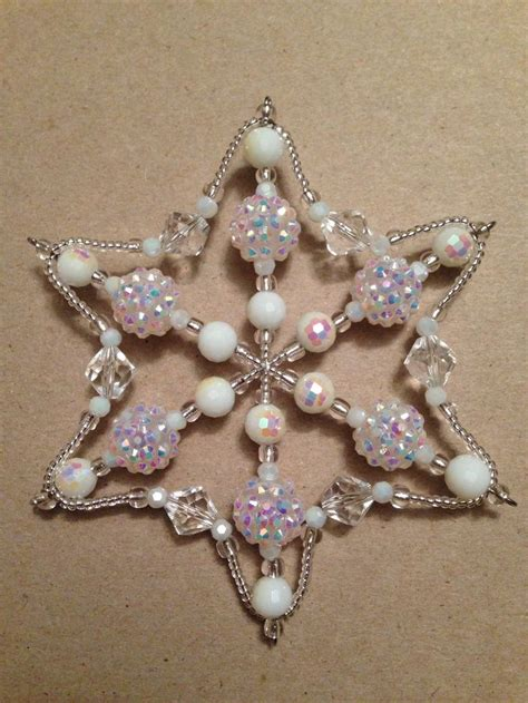 beaded snowflake ornament best 25 beaded snowflake ideas on