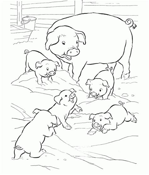 animal family coloring page pig family coloring pages animal coloring pages girls