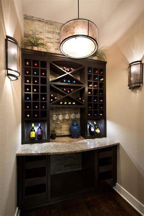 stylish butlers pantry  wine rack galore hgtv