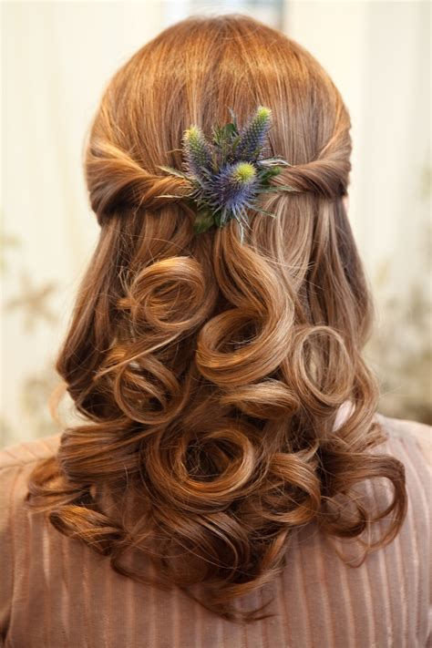 scottish plaited que hair wedding hair with flowers ideas festival inspired hair