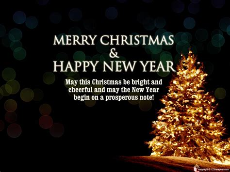merry christmas and prosperous new year wallpaper 7527