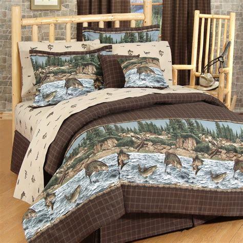 fishing comforter set river fishing comforter set twin