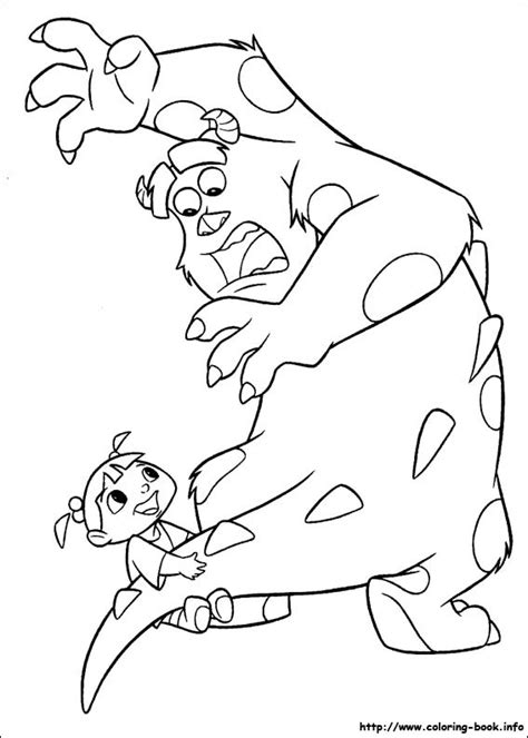 coloring page monster inc monsters inc coloring picture