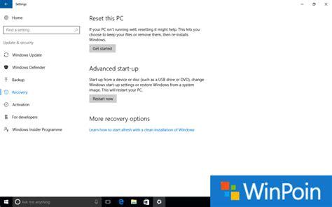 tutorial update ke windows 10 tutorial cara reset windows 10 jadi seperti baru winpoin