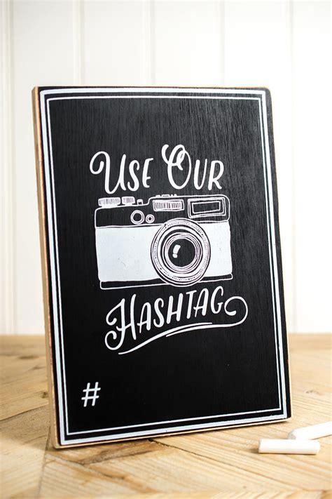 hashtag chalkboard sign xin