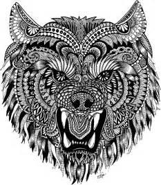 quot mandala wolf quot stickers melanie vasina redbubble