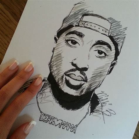 Drawing 2pac by Tupac Shakur My Drawing Follow Me On Instagram