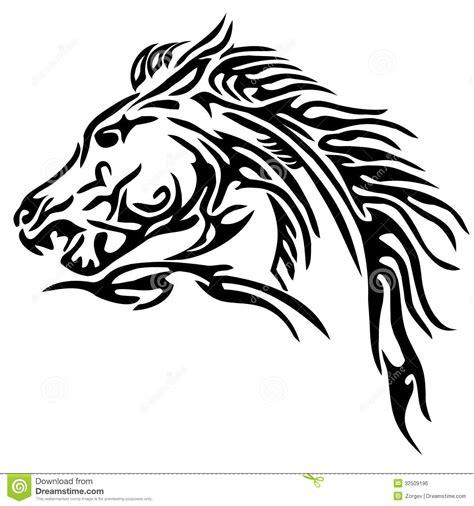 tattoo tribal cheval tatouage tribal de cheval image libre de droits image