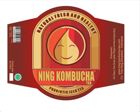 Teh Kemasan sribu label design desain label botol quot ning kombucha quot te