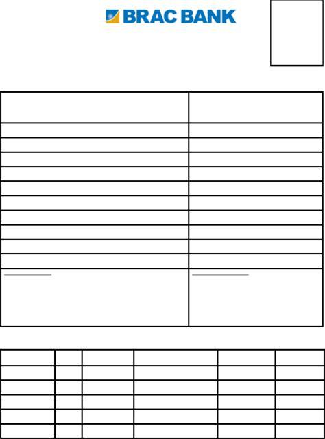 Brac Mba Admission Form by Mto Application Form Brac Bank Free