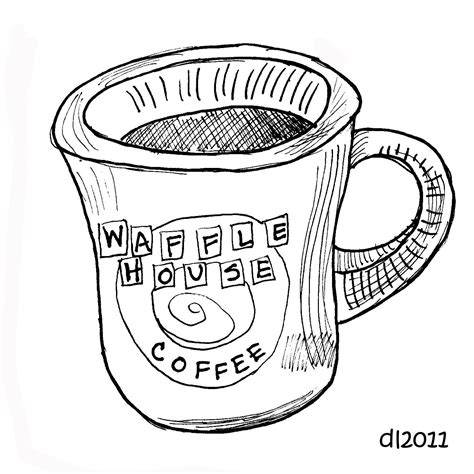 Waffle House Coloring Page | waffle house coloring pages coloring pages