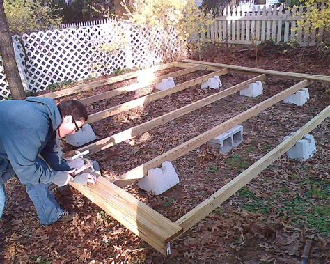 building a patio how to build a floating deck