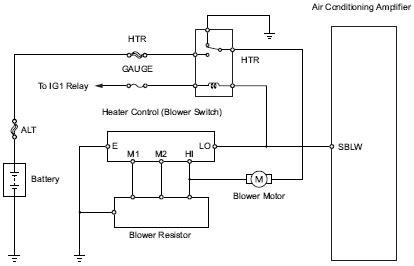 2007 toyota yaris blower motor circuit and wiring diagram