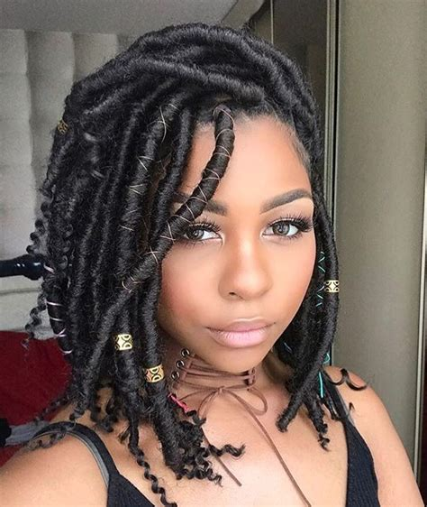 what length of hair still can go into ponytail gorgeous godess loc bob nelita makeup https