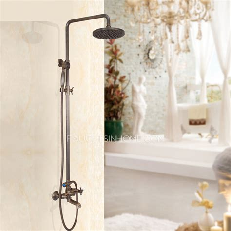 Custom Shower Faucets by Custom Antique Bronze Two Handle Exposed Shower Faucets System