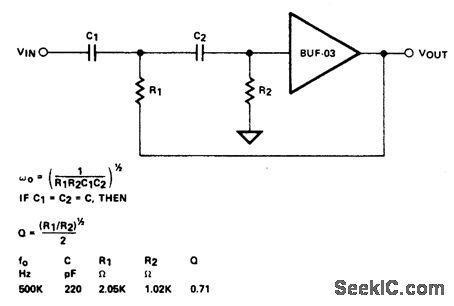 high pass filter hf index 13 filter circuit basic circuit circuit diagram seekic