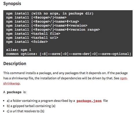 Npm Package Documentation