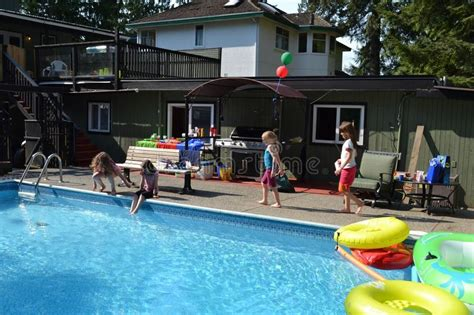 back yard pool editorial stock photo image of