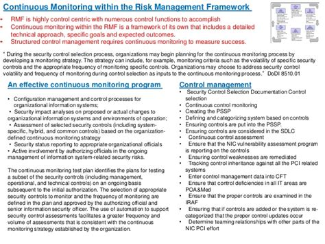 continuous monitoring plan template infosecforce risk management framework transition plan