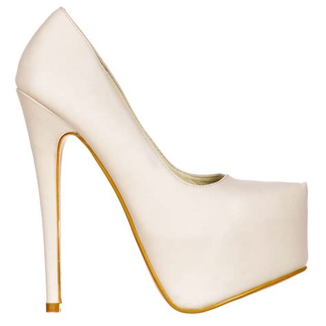 white stiletto high heels shoekandi high heel stiletto concealed platform
