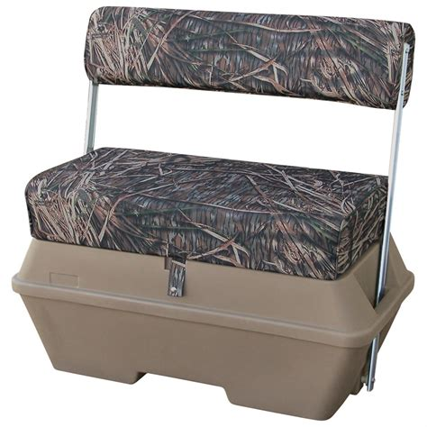 duck swivel seat wise 174 duck boat bench with cooler 204000 pontoon seats